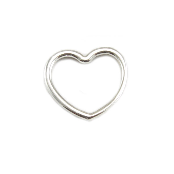 Sterling Silver Open Heart