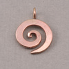 "Bronze Medium Spiral Pendant 3/4"" (19mm)"