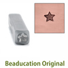 Lined Star Design Stamp 3mm- Beaducation Original