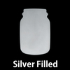 Silver Filled Mason Jar, 24g