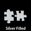 Silver Filled Paired Puzzle Pieces, 24g