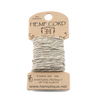 Hemp Cord- Mini Card Natural and Metallic Gold