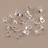 Silver Plated Cup Chain Connectors for 4mm Crystal, 10 pairs