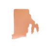 Copper Rhode Island State Blank, 24g