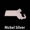 Nickel Silver Massachusetts State Blank, 24g