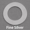 """Fine Silver 1"""" Washer, 5/8"""" ID, 20g"""