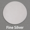 "Fine Silver 1 1/4"" (32mm) Circle, 20g"