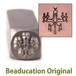 Chandelier Design Stamp- Beaducation Or