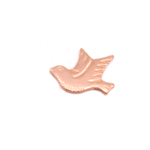 Copper Dove Left Facing Solderable Accent, 24g