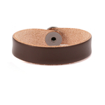 "Leather Bracelet 1/2"" X-Large, Brown"