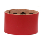 "Leather Adjustable Bracelet 1 1/2"" Red"