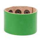 "Leather Adjustable Bracelet 1 1/2"" Green"