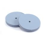 "Silicone Polishing Wheel, Square Edge - Blue 7/8"" Fine, 2pk"