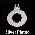 Silver Plated Washer with Inner Edge