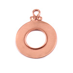 Copper Washer with Inner Edge