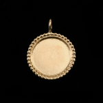 Gold Plated Circle with Dotted Edge, Medium