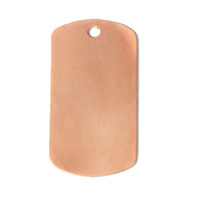 Copper Large Dog Tag, 24g