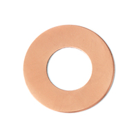 "Copper 1"" Washer, 1/2"" ID, 24g"