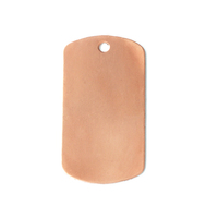 Copper Medium Dog Tag, 24g