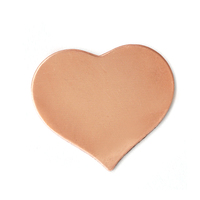 Copper Large Puffy Heart, 24g