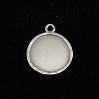 Sterling Silver Circle with Peened Edge