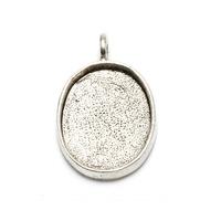 Plated Silver Oval Designer Bezel