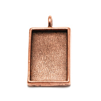 Plated Copper Rectangle Designer Bezel