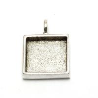 Plated Silver Square Designer Bezel