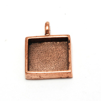 Plated Copper Square Designer Bezel