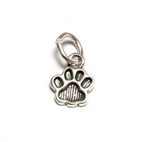 Sterling Silver Tiny Dog Paw Charm