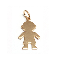 Gold Filled Boy Silhouette Charm