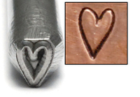 Long Heart Design Stamp