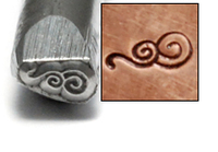 Spiral Wave Design Stamp