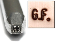 """G.F."" (Gold Filled Symbol) Design Stamp"