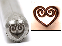 Double Spiral Heart Design Stamp