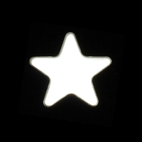 Sterling Silver Medium Rounded Point Star, 24g