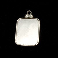 Sterling Silver Rounded Rectangle Pendant w/Raised Edge