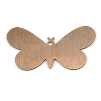 Antiqued Brass Butterfly with Hole, 24g