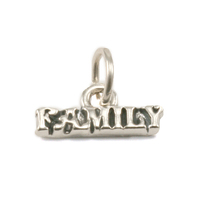 "Sterling Silver ""Family"" Charm with Attached Jump Ring"