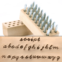 "Beaducation Script Lowercase Letter Stamp Set 1/8"" (3.2mm)"