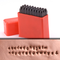 "Economy Block Lowercase Letter Stamp Set 1/16"" (1.6mm)"