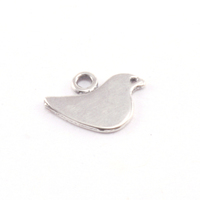 Sterling Silver Itty Bitty Birdie Charm with Top Loop