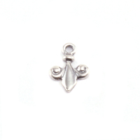 Sterling Silver Tiny Fleur De Lis Charm