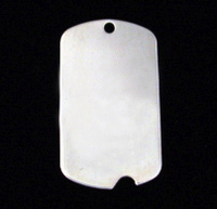 Sterling Silver Large Notched Dog Tag, 20g