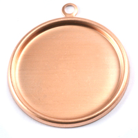 "Copper 1 1/2"" (38mm) Pressed Circle w/Raised Edge"