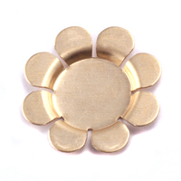 Brass Recessed 8 Petal Flower Blank, 24g