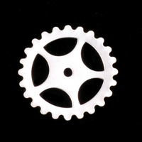 Sterling Silver Large Spoked Cog, 24g
