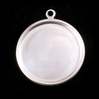 "Sterling Silver 1 1/8"" (29mm) Pressed Circle w/Raised Edge"