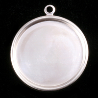 "Sterling Silver 1 1/2"" (38mm) Pressed Circle w/Raised Edge"