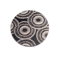 "Anodized Aluminum 5/8"" Circle, Black Design #7, 22g"